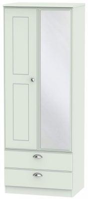 Victoria Grey Matt 2 Door Tall Combi Wardrobe