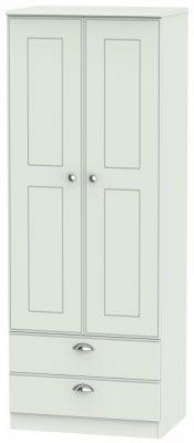 Victoria Grey Matt 2 Door 2 Drawer Tall Wardrobe