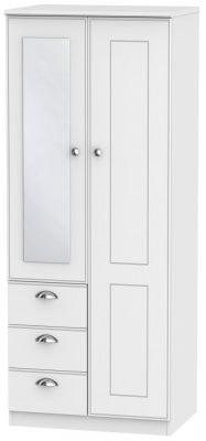 Victoria White Ash 2 Door 3 Drawer Combi Wardrobe