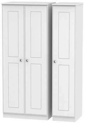 Victoria White Ash 3 Door Wardrobe