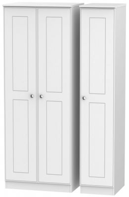 Victoria White Ash 3 Door Tall Wardrobe