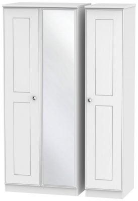 Victoria White Ash 3 Door Mirror Wardrobe