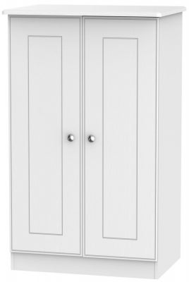 Victoria White Ash 2 Door Midi Wardrobe