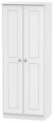 Victoria White Ash 2 Door Tall Hanging Wardrobe