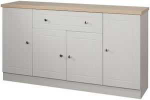 Vienna 4 Door 1 Drawer Wide Sideboard - Kaschmir Ash and Bordeaux Oak