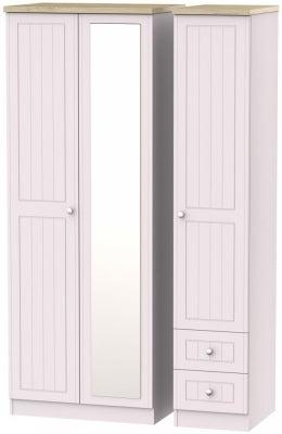 Vienna Kaschmir Ash 3 Door 2 Right Drawer Tall Combi Wardrobe