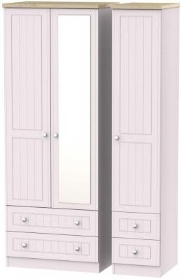 Vienna Kaschmir Ash 3 Door 4 Drawer Tall Combi Wardrobe