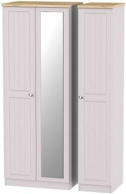 Vienna Kaschmir Ash 3 Door Tall Mirror Wardrobe