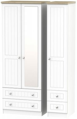 Vienna Porcelain 3 Door 4 Drawer Tall Combi Wardrobe