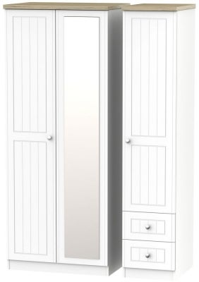 Vienna Porcelain 3 Door 2 Right Drawer Combi Wardrobe