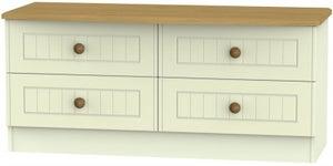 Warwick Cream and Oak Bed Box
