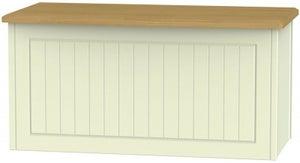 Warwick Cream and Oak Blanket Box