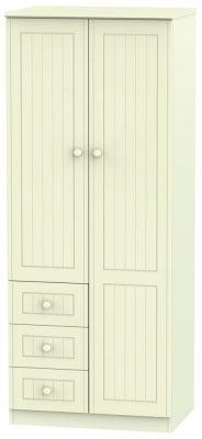 Warwick Cream 2 Door 3 Drawer Combination Wardrobe