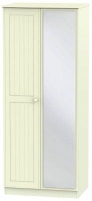 Warwick Cream 2 Door Mirror Wardrobe