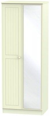 Warwick Cream 2 Door Tall Mirror Wardrobe