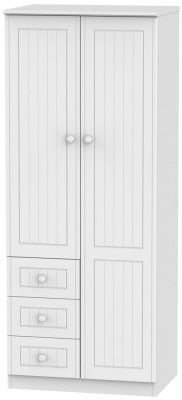 Warwick White 2 Door 3 Drawer Wardrobe