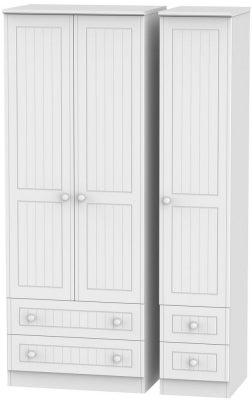 Warwick White 3 Door 4 Drawer Tall Wardrobe