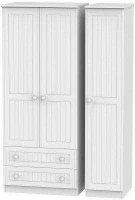 Warwick White 3 Door 2 Left Drawer Wardrobe