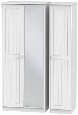 Warwick White 3 Door Mirror Wardrobe