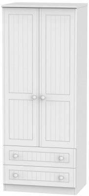 Warwick White 2 Door 2 Drawer Wardrobe