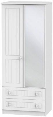 Warwick White 2 Door Mirror Combi Wardrobe