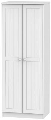 Warwick White 2 Door Tall Hanging Wardrobe