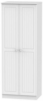 Warwick White 2 Door Tall Plain Wardrobe