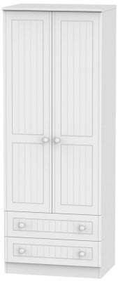 Warwick White 2 Door Tall Wardrobe