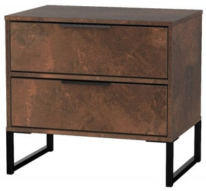 Clearance - Diego Copper 2 Drawer Double Locker - New - P-23