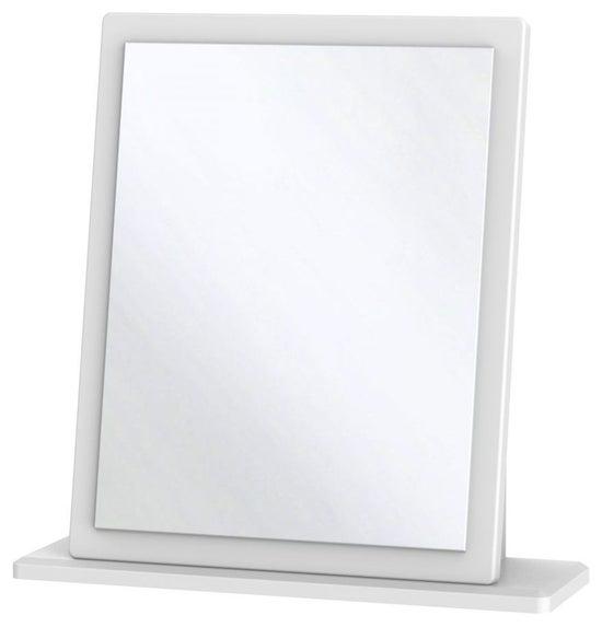 Clearance - Knightsbridge White Small Mirror - New - FSS9256