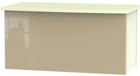 Clearance - Knightsbridge Blanket Box - High Gloss Mushroom and Cream - New - P-26