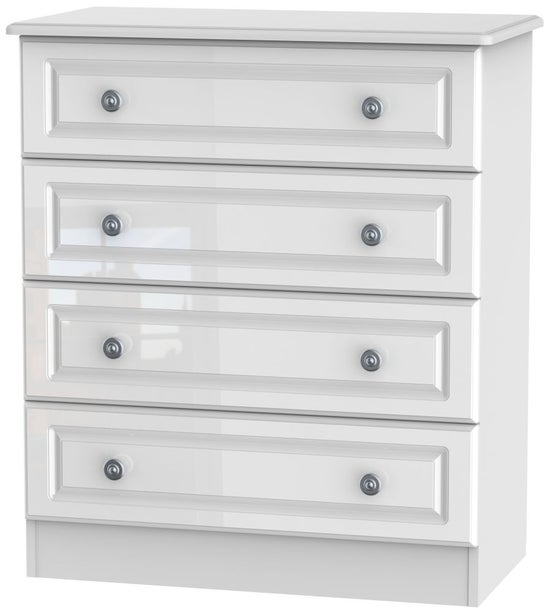 Clearance - Pembroke White 4 Drawer Wide Chest - New - P-64