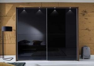 Wiemann Berlin Sliding Wardrobe with Full Glass or Crystal Mirror Front Panels