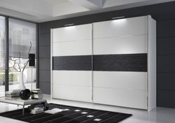 Wiemann Hollywood 4 Sliding Wardrobe with Line 3 in Highlight Colour