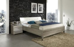 Wiemann Loft Futon Bed with Faux Leather Cushion Headboard