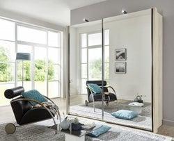 Wiemann Miami2 2 Door All Mirror Sliding Wardrobe in Holm Oak - W 200cm