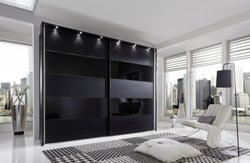 Wiemann Sunset Sliding Wardrobe with Line 1 and 3 and 5 in Highlight Color