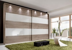 Wiemann Sunset Sliding Wardrobe with Line 2 and 4 in Highlight Color