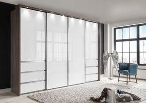 Wiemann VIP Malibu Sliding Wardrobe with White Glass Front