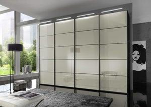 Wiemann VIP Westside Sliding Wardrobe with Magnolia Glass Front
