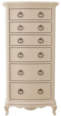 Willis and Gambier Ivory 6 Drawer Tallboy