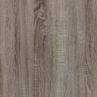 Dark Rustic Oak with Chrome Handles Ledges and Trims 328