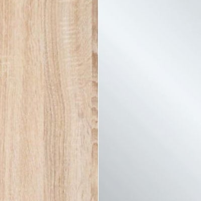 Rustic Oak Carcase and Crystal Mirror Front 659