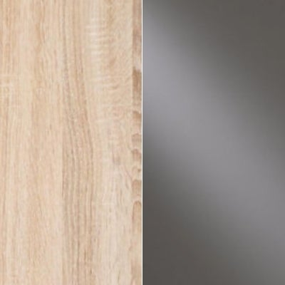 Rustic Oak Carcase and Havana Glass Front 659