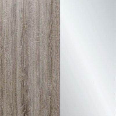Dark Rustic Oak with Crystal Mirror 446