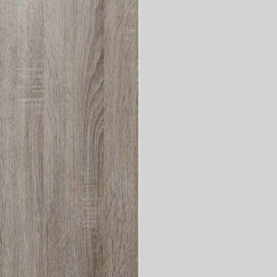 Dark Rustic Oak with Pebble Grey Glass 446