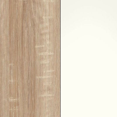 Rustic Oak with White Glass 443