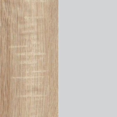 Rustic Oak with Pebble Grey Glass 443