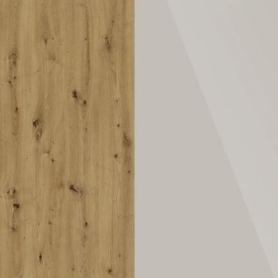 Bianco Oak Carcase and Champagne Glass Front 329