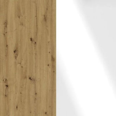 Bianco Oak Carcase and White Glass Front 329